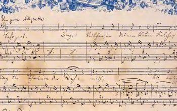 partition manuscrite de Brahms