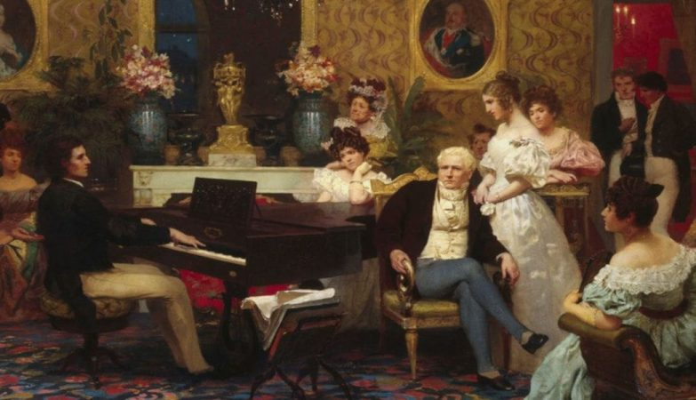 Frédéric Chopin donne un concert romantique